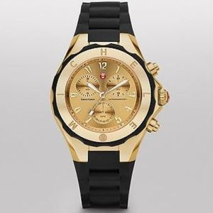 Michele Tahitian Jelly Bean Large Black Gold Tone